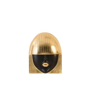 Fashion Girls Wall Face, Kiss, Gold Leaf, Large
