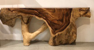 Chamch Wood Console Table
