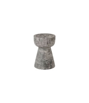 Chamcha Wood Stool, Grey Stone