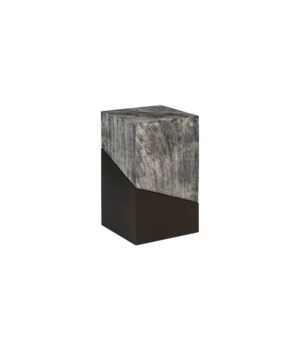 Geometry Side Table, Grey Stone