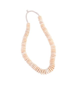 Nigeria Water Buffalo Bone Disk Beads Per String