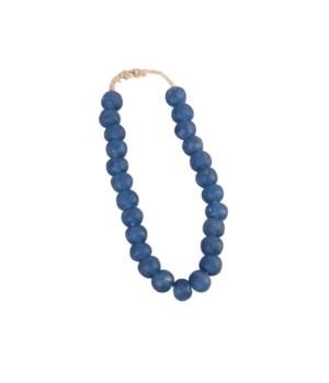 Vintage Sea Glass Beads, Indigo Blue