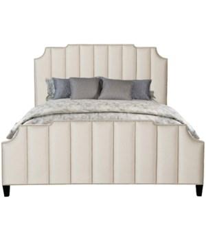 Bayonne Cal King Bed, 2141-021, GR Q
