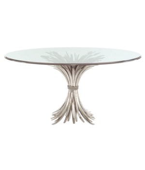 Somerset Dining Table Base with Round Glass Top