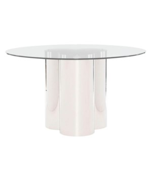Rossi Round Dining Table with Glass Top