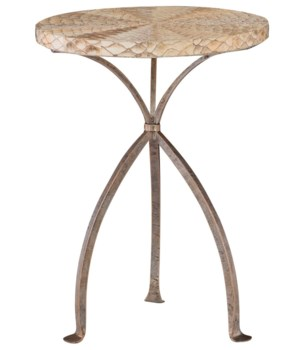 Althea Round Chairside Table