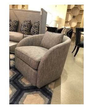 Turner Swivel Chair, Fabric 2821-110 GR M