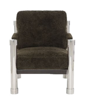 Shawn Chair,187-222 Chocolate Shearling, L8, NC:6