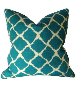 "Adrift Teal 22"" Square Pillow"