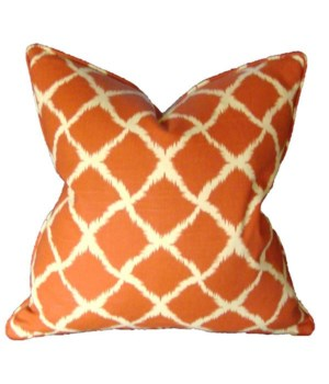"Adrift Orange 22"" Square Pillow"