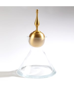 Finial Decanter Brass, Large