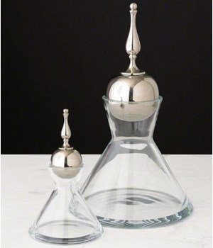 Finial Decanter Nickel, Large