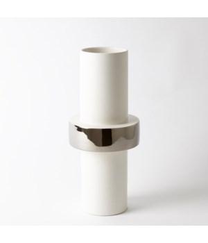 Silver Ring Vase, Medium