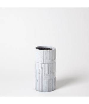 Urban Relief Cylinder Vase, Small