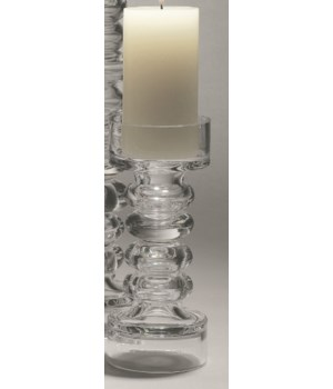 Glass Ribbed Candleholder/Vase, Small