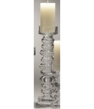 Glass Ribbed Candleholder/Vase, Large
