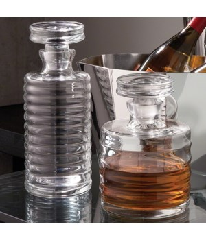 Ribbed Decanter, Tall