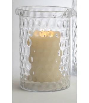 Honeycomb Hurricane Vase, Medium