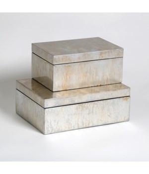 Champagne Silver Leaf Box, Small