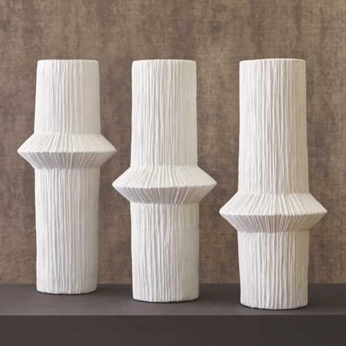 Ascending Ring Vase Matte White, High