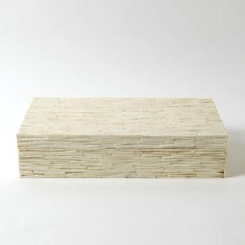 Chiseled Bone Storage Box, Large