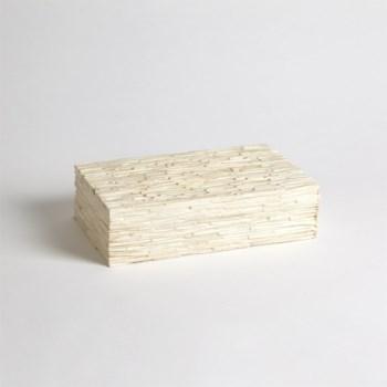 Chiseled Bone Storage Box, Medium