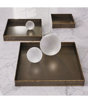 Laforge Tray, Braised Brass, Large