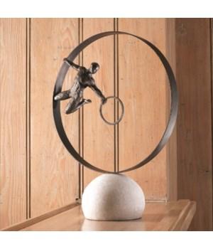 Circle In Circle Man Sculpture