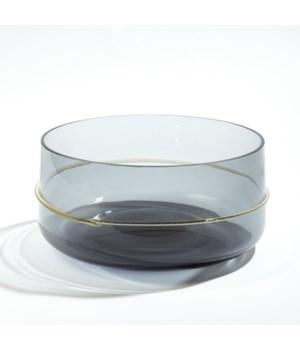 Ribbon Wrapped Bowl, Grey