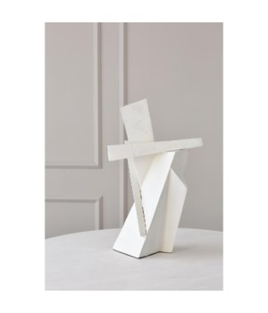 Angular Outcrop Sculpture, White
