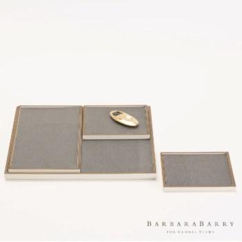 Alpen Leather Insert Trays, Set of 4