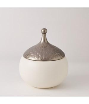 Teardrop Vase, Snow, Medium