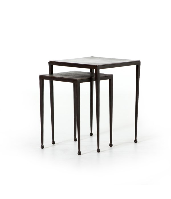 Dalston Nesting End Tables, Antique Rust