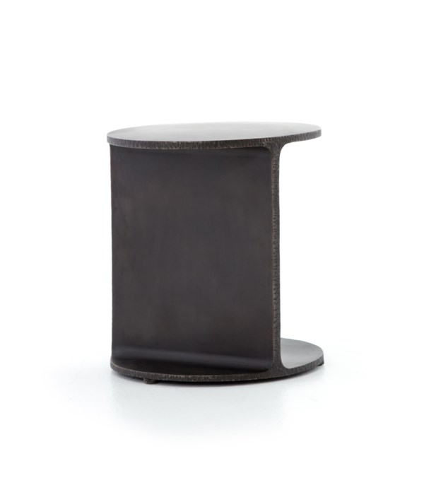 Griffon Side Table, Rustic Fossil