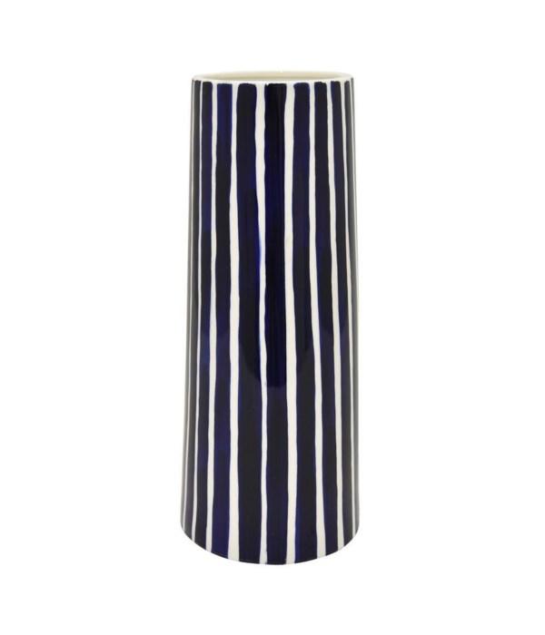 Blue Stripes Porcelain Vase