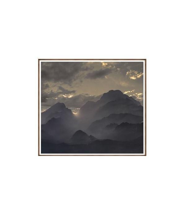 60 x 54 Majestic Tetons VI, Glass Framed