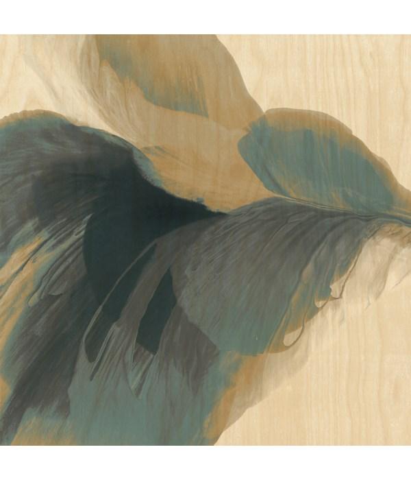 30x30 Poppy Blush, Birch Wood Art