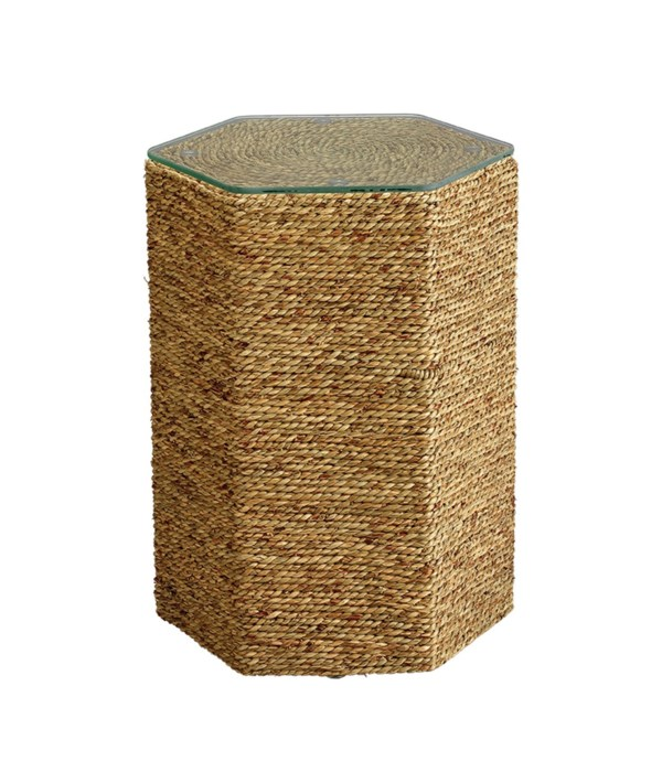 Peninsula Natural Seagrass Side Table
