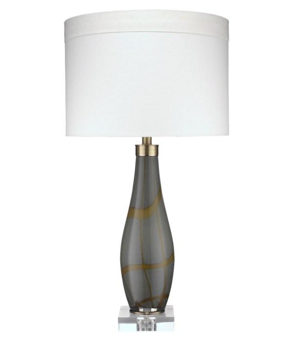 Boa Table Lamp, Taupe Glass
