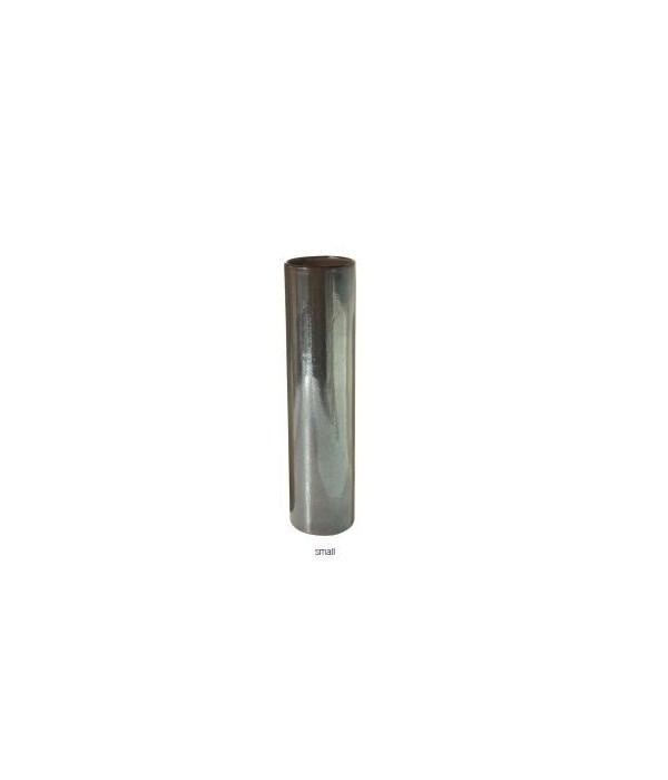 Tarnished Metallic Pillar Vase, Sm