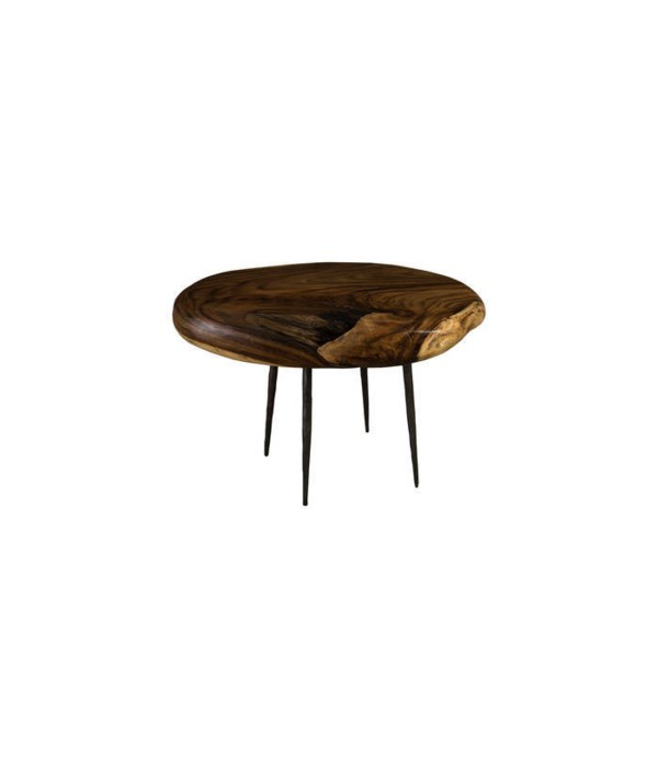 Skipping Stone Side Table, Forged Legs