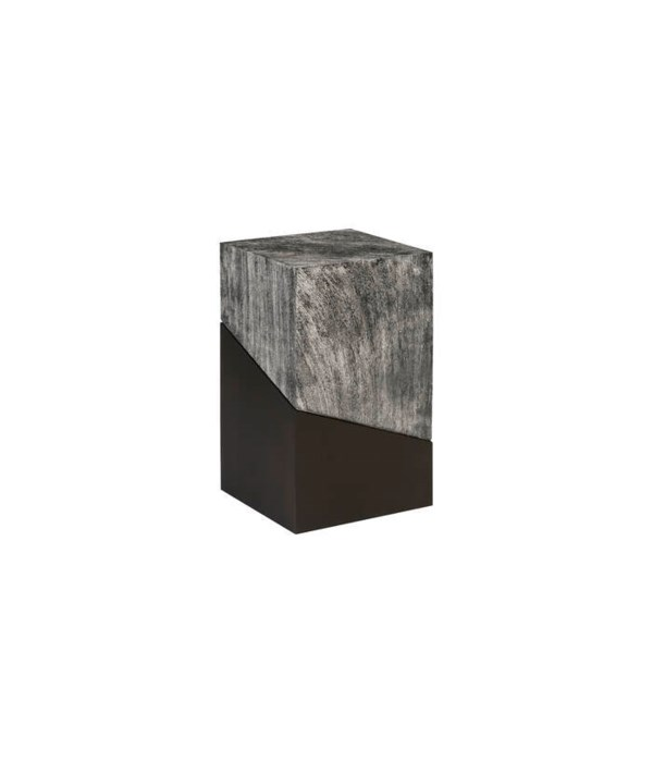 Geometry Side Table, Grey Stone