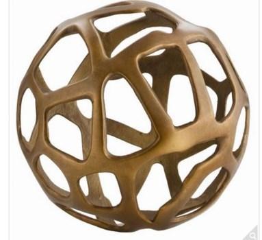 Ennis Small Antique Brass Web Sphere