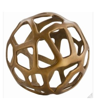Ennis Small Antique Brass Web Sphere