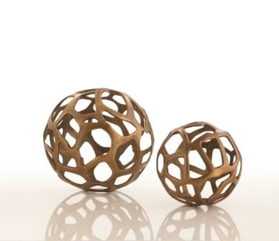 Ennis Large Antique Brass Web Sphere