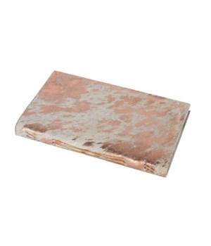 Journal Metallic Hide, White, Rose Gold