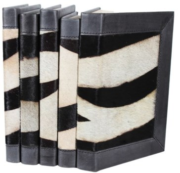 Hide Colleciton-Zebra w/ Leather Trim