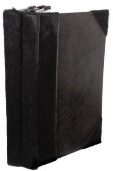 Journal-Black Cow Hide