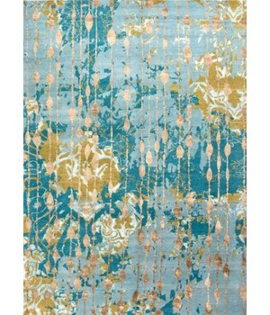 Connextion by Jenny Jones-Global Ruby Room Canal Blue/Dark Citron 18""