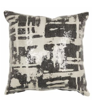 Yorkville Kate Spade Painterly Plaid Black Pillow